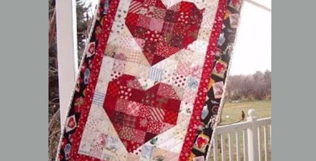 Valentine Hearts Wall Quilt