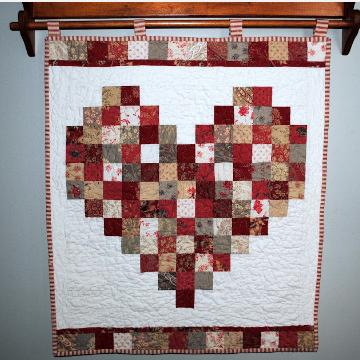 One Charm Square Pack Valentine Heart Wall Hanging