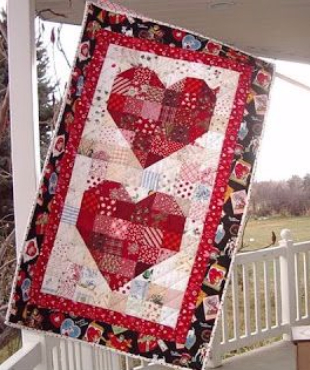 Valentine Hearts wall hanging
