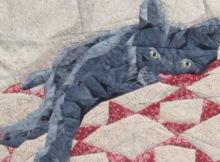 beautiful Cat Nap wall quilt