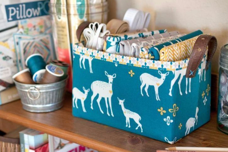 fabric baskets for the sewing room