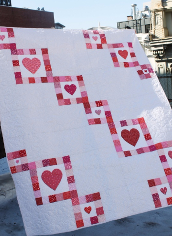 heart quilt for Valentines