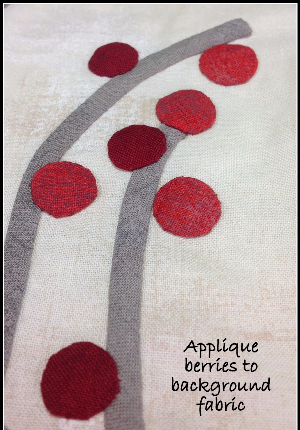 How to make the berries for a Cardinal wall quilt