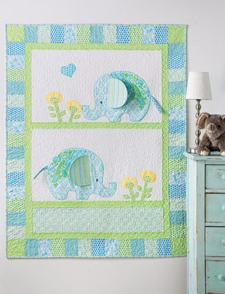 Bobo Elephants Baby Quilt To Charm The Socks Off Everyone