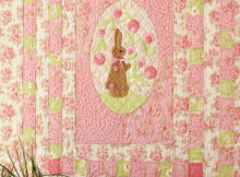 Bunny Patch wall quilt for spring