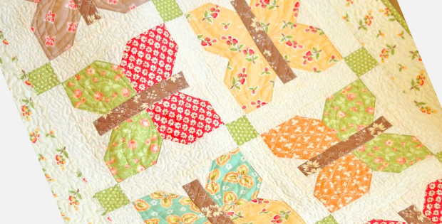 Butterfly table runner Painted Ladies Fig Tree quilts
