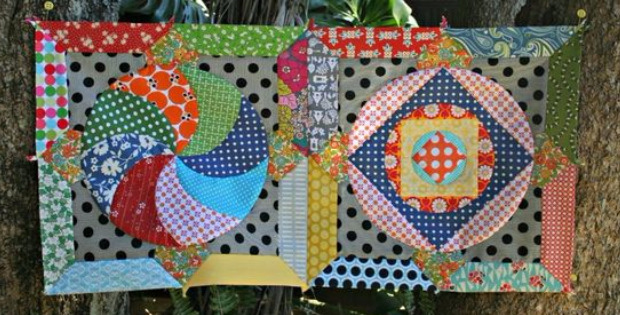 Circle Game quilt blocks Jenny Kingwell