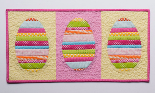 Three Easter Egg Table Runner All You Need Is Colorful Scraps