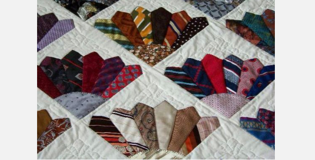 Six Mens Ties To Make A 'Fancy Fans' Block Then Make A Beautiful ... : tie quilt pattern - Adamdwight.com