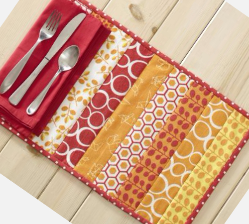 Quilt As You Go Placemats In Half The Time As Before Quilting Cubby