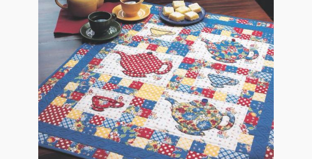 Vintage Picnic Table Topper In Time For Tea – Quilting Cubby : tea time quilting - Adamdwight.com