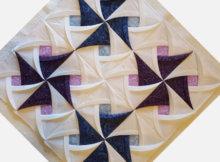 Pinwheel Surprise wall quilt