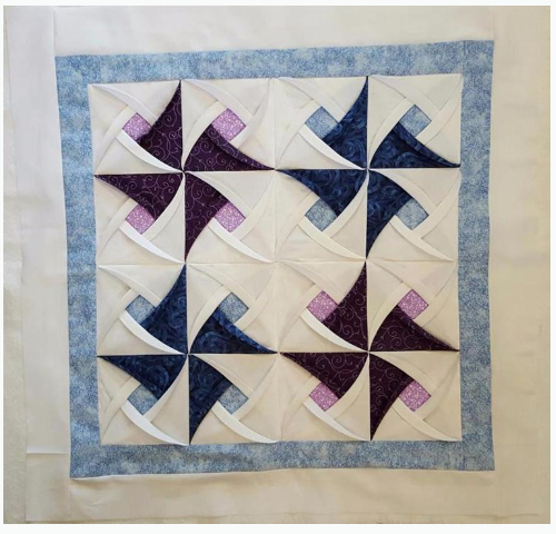 Charm Square Pinwheel Surprise For Your Next Wall Hanging