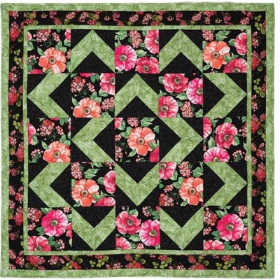Poppy Panache quilting fabric Walk About quilt