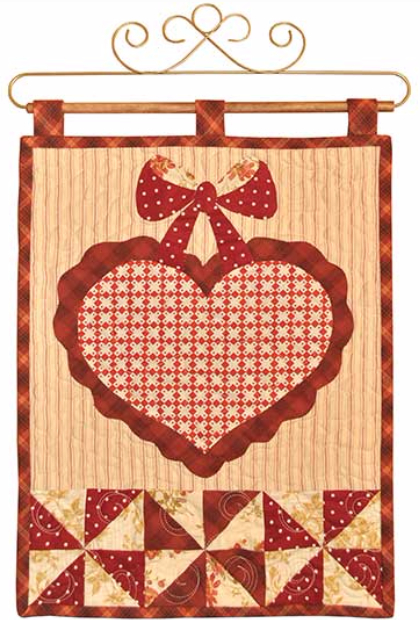 Vintage February wall hanging with pinwheels
