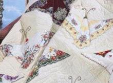 Vintage Hankie Butterfly quilt