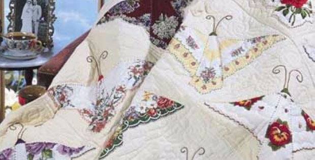 A Charming Vintage Hankie Butterfly Quilt Quilting Cubby