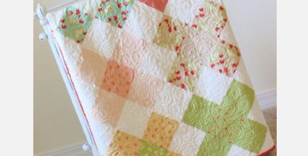 Charm Square Granny Square Quilt With No Fabric Scraps At