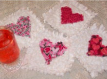 heart coasters rag quilt blocks