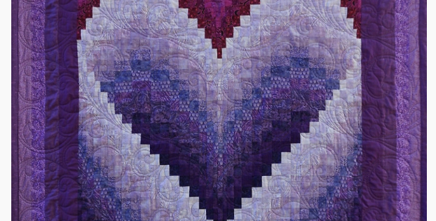 The Most Captivating Bargello Heart Quilt Ever Quilting