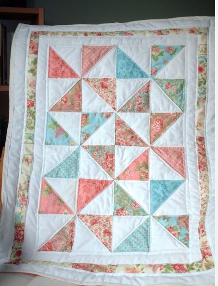 Easy Six Pinwheel Baby Quilt – Quilting Cubby : baby pinwheel quilt - Adamdwight.com