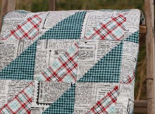 quilts for men newspaper print fabric