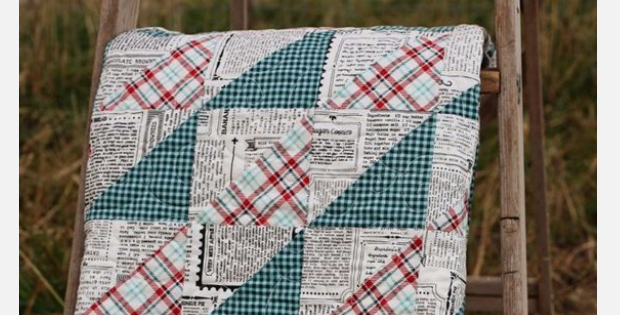 Make A Quilt For The Man In Your Life With Newsprint
