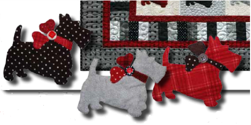 Scottie Dog Quilt With Cute Puffy Dogs – Quilting Cubby : scottie dog quilt pattern - Adamdwight.com