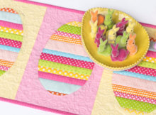 scrappy easter egg table runner