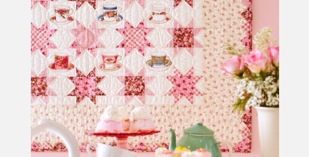 Country Rose Prints And Quaint Tea Cups For A Sweet Tea