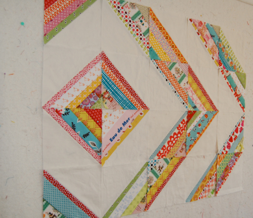 wall quilt scrappy string quilt colorful fabric