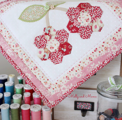 Cherry mini quilt Lovely Little Patchwork through the Seasons