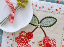 Cherry potholder Lovely Little Patchwork through the seasons