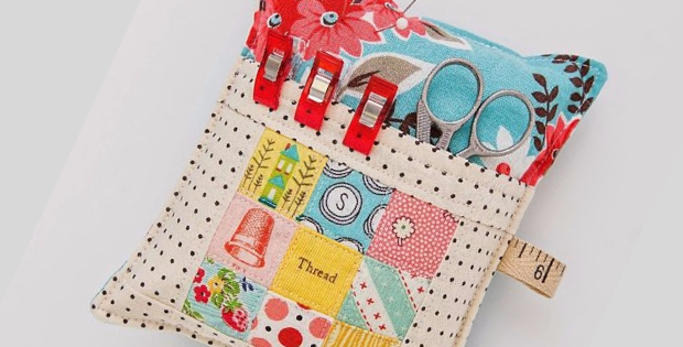 Deluxe pincushion with pocket for scissors