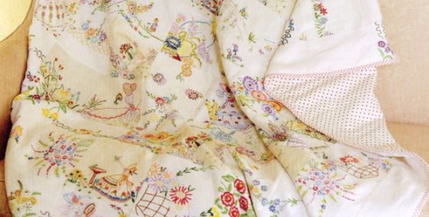 Embroidered Linens quilt