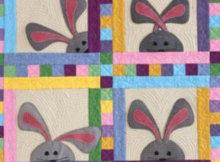Peek a boo bunny wall quilt