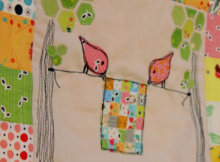 Sweet Tweets Erin Cox Birdies Holding A Quilt