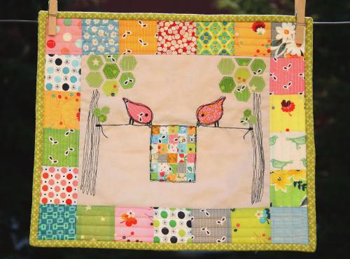 Sweet Tweets Erin Cox mini quilt