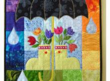 Umbrella quilt Kim Schaefer Calender Quilts