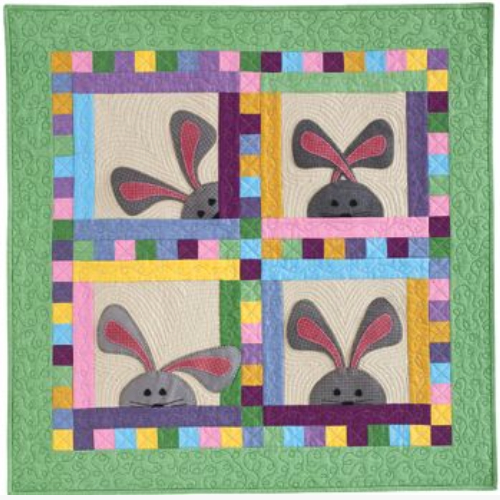 bunny wall quilt you can arrange the ears