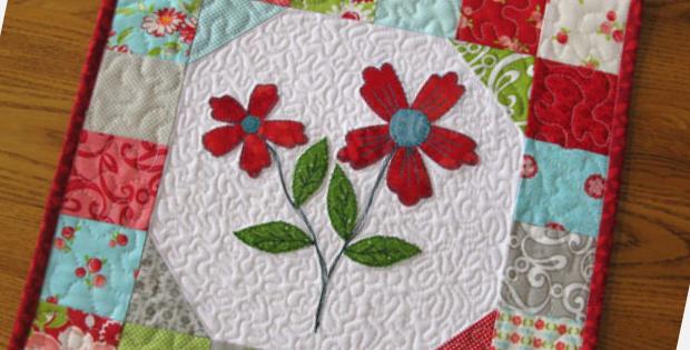 charm pack mini quilt