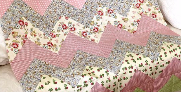 Use The Chevron Zig Zag For Your Next Baby Girl Quilt – Quilting Cubby