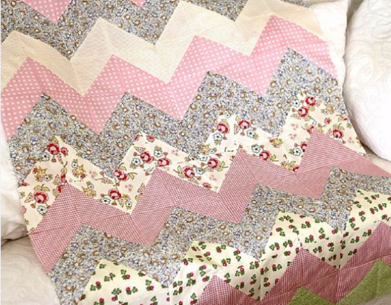Use The Chevron Zig Zag For Your Next Baby Girl Quilt Quilting Cubby