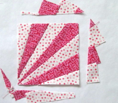 how to make an easy fan quilt block