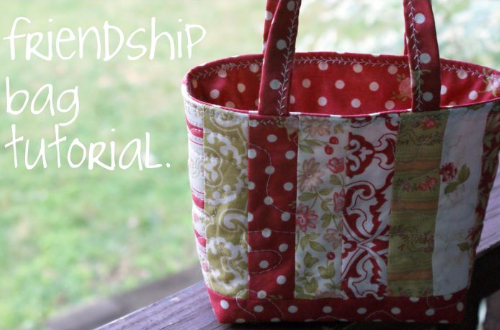 One Hour Jelly Roll Strips Friendship Tote Quilting Cubby