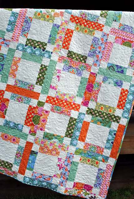 jelly roll quilt florals