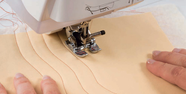 machine quilting with a walking foot Pat Sloan