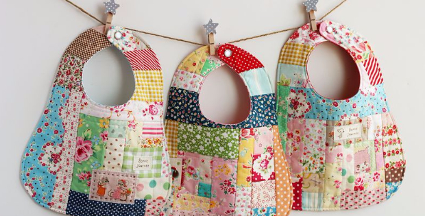 patchwork bibs for boys and girls