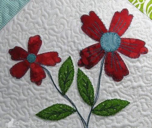 tattered flowers flower applique