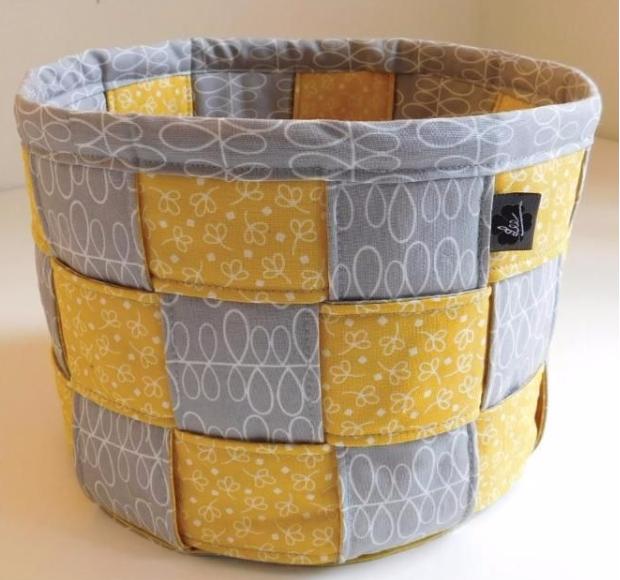 jelly roll woven basket pattern